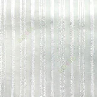 White color vertical stripes with transparent net fabric texture finished sheer curtain