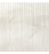 Beige color vertical stripes with transparent net fabric texture finished sheer curtain