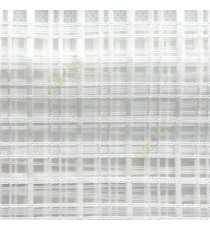 Pure white color vertical and horizontal stripes texture finished checks pattern transparent net background sheer curtain fabric