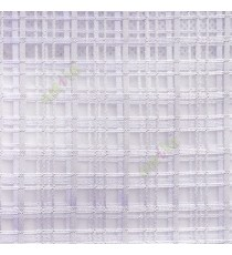 Purple color vertical and horizontal stripes texture finished checks pattern transparent net background sheer curtain fabric
