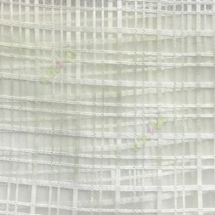 Green color vertical and horizontal stripes texture finished checks pattern transparent net background sheer curtain fabric
