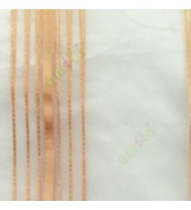 Gold color vertical stripes shiny surface light reflecting matrial transparent net background sheer curtain fabric