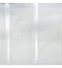 Pure white color vertical wide stripes digital lines transparent net background sheer curtain fabric