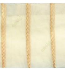 Gold color vertical wide stripes digital lines transparent net background sheer curtain fabric