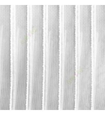 Pure white color vertical digital stripes transparent net finished texture background sheer curtains fabric