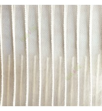 Cream color vertical digital stripes transparent net finished texture background sheer curtains fabric