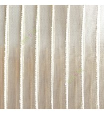 Beige color vertical digital stripes transparent net finished texture background sheer curtains fabric