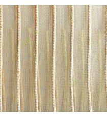 Gold color vertical digital stripes transparent net finished texture background sheer curtains fabric