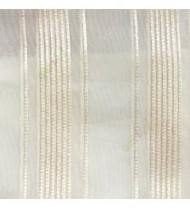 Cream vertical digital stripes weaving pattern straight lines transparent net background sheer curtain fabric