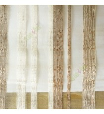 Brown beige color vertical bold stripes straight lines transparent net background sheer fabric