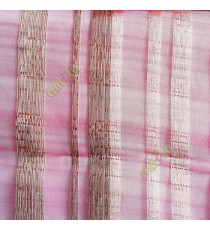 Maroon brown cream color vertical bold stripes straight lines transparent net background sheer fabric