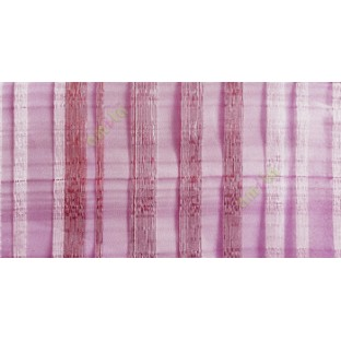 Purple brown silver color vertical bold stripes straight lines transparent net background sheer fabric