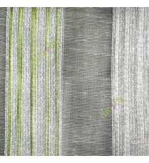 Green gold white color vertical stripes with transparent texture finished surface weaving pattern sheer fabric