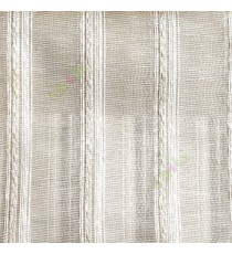 Beige gold white color vertical weaving stripes with transparent net finished surface texture lines sheer fabric