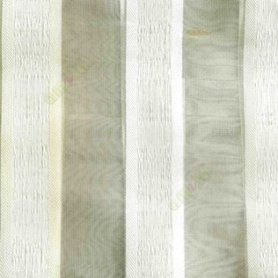 Gold white color vertical bold stripes with texture transparent surface with stripe border lace design vertical lines sheer fabric