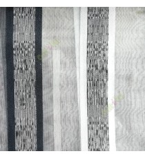 Black white cream color vertical bold stripes with texture transparent surface with stripe border lace design vertical lines sheer fabric