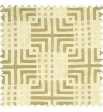 Beige cream union jack with small squares embroidery patterns with polyester background fabric main curtain