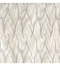 Abstract grey cream white color design twig bend stick embroidery vertical trendy lines polyester sheer curtain
