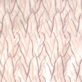 Abstract purple pink color design twig bend stick embroidery vertical trendy lines polyester sheer curtain