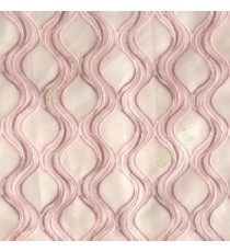 Purple pink color traditional ogee vertical curved flowing layers embroidery polyester sheer curtain