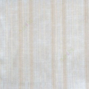 Beige cream color vertical texture bold stripes and horizontal thin short lines polycotton main curtain