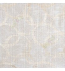 Beige cream color geometric circles vertical horizontal lines polycotton main curtain