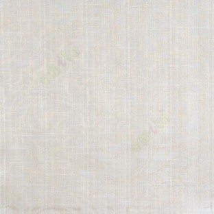 Beige cream color busy pattern with swirls floral leaf designs vertical thin lines polycotton main curtain