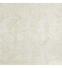 Cream beige color traditional paisley designs and swirls flower leaf pattern polycotton main curtain