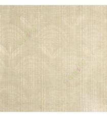 Brown beige elegant look floral leaf stem pattern rain drop scales two leaf in stem polycotton main curtain