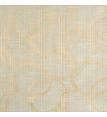 Cream beige color geometric circles vertical horizontal lines polycotton main curtain