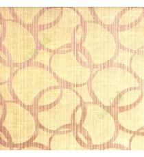 Brown beige color geometric circles vertical horizontal lines polycotton main curtain