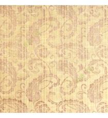 Brown beige color traditional paisley designs and swirls flower leaf pattern polycotton main curtain