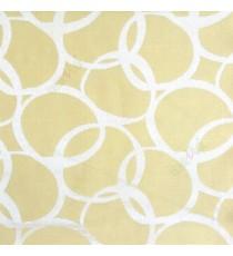 Green color geometric circles vertical horizontal lines polycotton main curtain