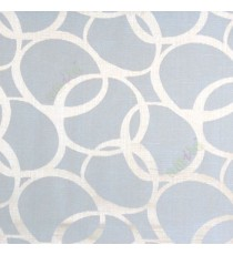 Blue color geometric circles vertical horizontal lines polycotton main curtain