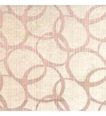 Dark brown black color geometric circles vertical horizontal lines polycotton main curtain