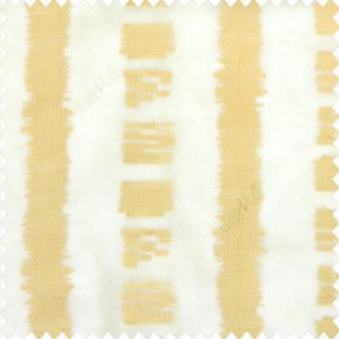 Beige gold color vertical stripes digital bold lines zebra crossing zigzag weaving embroidery soft thread work poly fabric sheer curtain