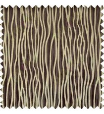 Brown Silver Trendy Lines Poly Main Curtain Designs
