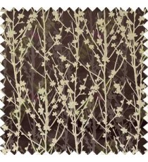 Brown Silver Twigs Forest Design Poly Main Curtain Designs