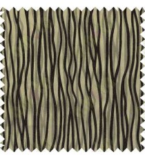 Black Brown Trendy Lines Poly Main Curtain Designs