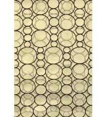 Black Brown Circle Geometric Design Poly Main Curtain Designs