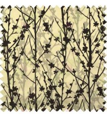 Black Brown Twigs Forest Design Poly Main Curtain Designs