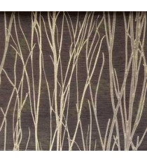 Black Brown Twigs Design Poly Main Curtain Designs