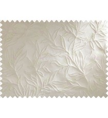 White Floral Self Design Main Curtain Designs