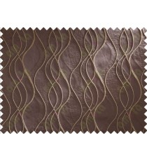 Chocolate Brown Beige Waves Main Curtain Designs
