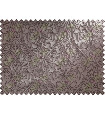 Dark Brown Traditional Damask Self Design Main Curtain Designs