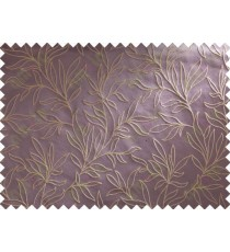 Purple Beige Floral Main Curtain Designs