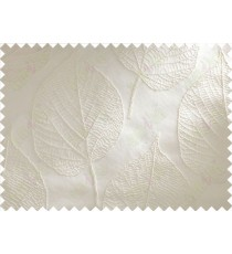 White Leaf Self Design Main Curtain Designs
