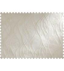 White Waves Self Design Main Curtain Designs