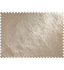 Brown Beige Floral Main Curtain Designs