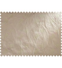 Brown Beige Leaf Main Curtain Designs